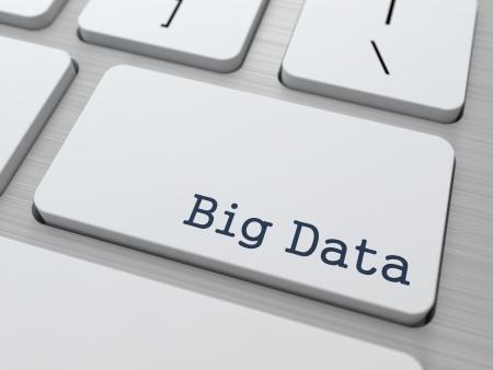 Big Data - Information Concept. Button on Modern Computer Keyboard.
