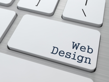 Web Design - Business  Concept. Button on Modern Computer Keyboard. Stock Photo - 21977086