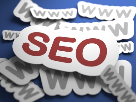 metasearch: SEO -  Internet Concept. Text on Blue Background with Selective Focus. 3D Render.