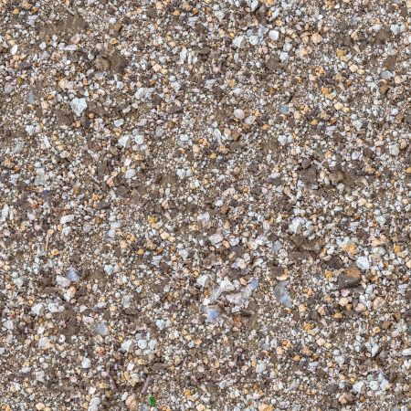 macadam: Seamless Texture of Fragment Soil Mixed with Gravel, Macadam, Pieces of Coquina and Glass.