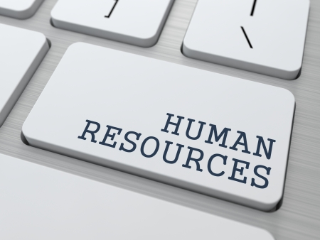 Human Resources. Business Concept. Button on Modern Computer Keyboard. photo