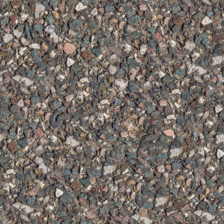 Seamless Tileable Texture of Fragment of Old Stone Country Road. Small Size. photo