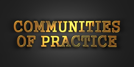 rationale: Communities of Practice - Gold Text on Dark Background. Business Educational Concept. 3D Render. Stock Photo