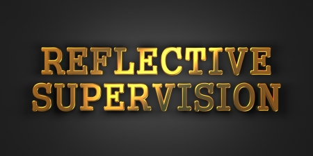 rationale: Reflective Supervision - Gold Text on Dark Background. Business Concept. 3D Render.