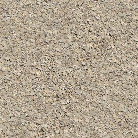 macadam: Seamless Tileable Texture of Light Macadam Surface. Stock Photo