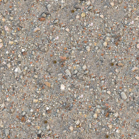 Seamless Tileable Texture of  Fragment Dusty Soil with Pieces of Debris - Brick, Coquina, Macadam  photo