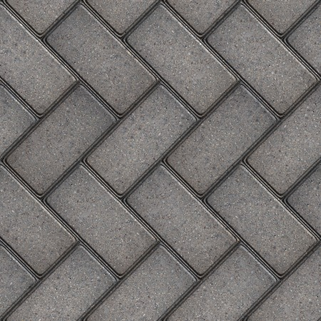 Gray Rectangular Pavement Laid as Parquet  Seamless Tileable Texture  photo