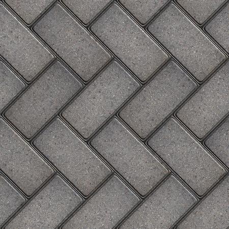 pave: Gray Rectangular Pavement Laid as Parquet  Seamless Tileable Texture  Stock Photo