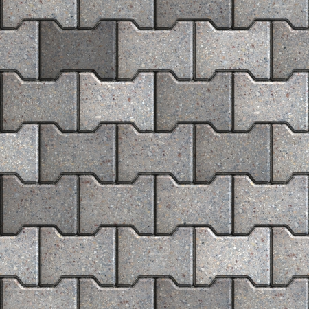 Gray Figured Paving Slabs. Seamless Tileable Texture. Stock Photo - 22893387