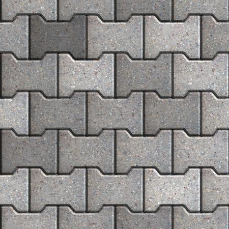 Gray Figured Paving Slabs. Seamless Tileable Texture. Stock Photo - 22893387