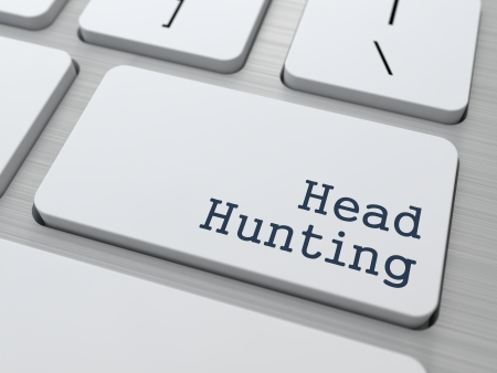 headhunting: Headhunting  Button on Modern Computer Keyboard  Business Concept  3D Render