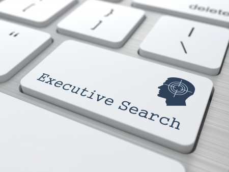 Executive Search  Button on Modern Computer Keyboard with Thematic Icon  Business Concept  3D Render  photo