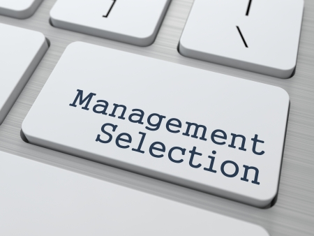 Management Selection  Button on Modern Computer Keyboard  Business Concept  3D Render  photo