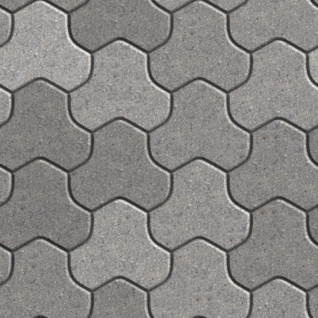 Gray Pavement Consisting of Three Combined Hexagons. Seamless Tileable Texture. photo