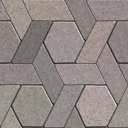 combined: Pavement Gray Consta de Quadrangle y hex�gonos combinada. Textura incons�til de Tileable.