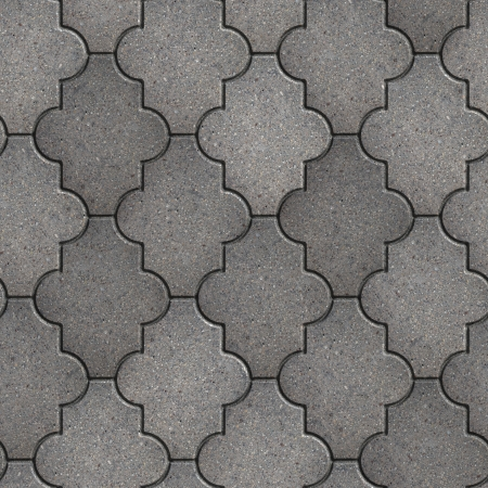 Gray Figured Pavement. Seamless Tileable Texture. photo