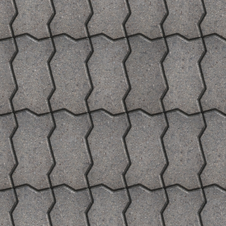 Gray Wavy Paving Slabs, Vertical Stacking. Seamless Tileable Texture. photo