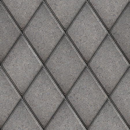 Gray Rhombus Pavement  Seamless Tileable Texture  photo