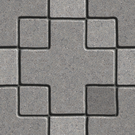 Gray Pavement - Big Cross and Square  Seamless Tileable Texture  photo