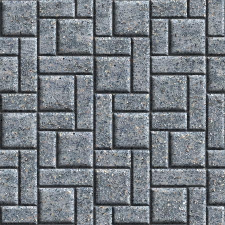 Gray Pavement - Rectangular and Square  Seamless Tileable Texture  photo