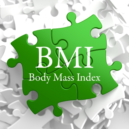 bmi: BMI- Body Mass Index - Written on Green Puzzle Pieces  Health Concept