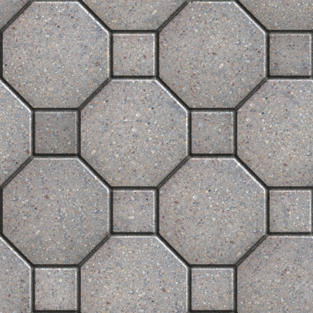 octagon: Gray Square and Octagon Pavements. Seamless Tileable Texture.