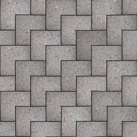 Gray Paving Slabs of Squares Laying One Another as scale. Seamless Tileable Texture. photo