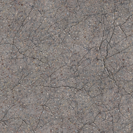 Cracked Grey Concrete Surface. Seamless Tileable Texture.