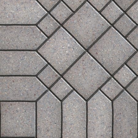 figured: Gray Square and Hexagon Figured Pavements. Seamless Tileable Texture.