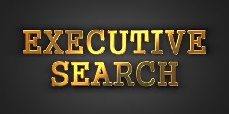 Executive Search - Business Background. Golden Text on a Black Background. photo