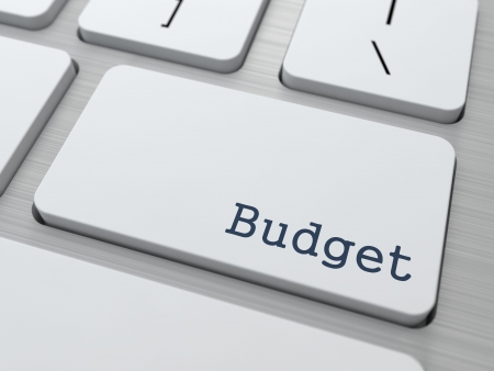 Budget - Business Concept. Button on Modern Computer Keyboard. photo