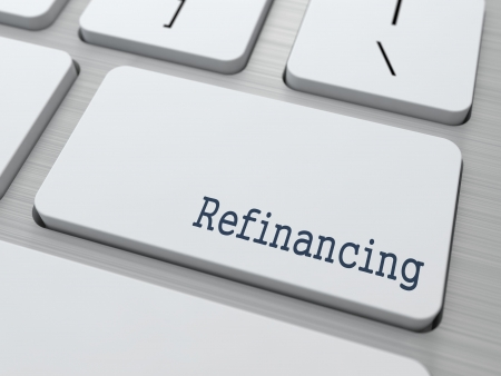 Refinancing - Business Concept. Button on Modern Computer Keyboard. Stock Photo - 23512925