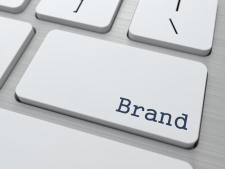 Brand - Business Concept. Button on Modern Computer Keyboard.