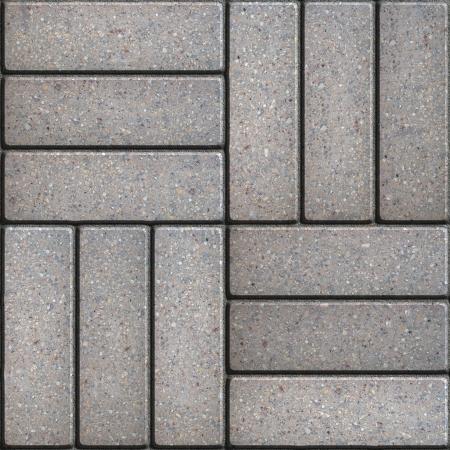 perpendicular: Pavimentazione grigia di rettangoli disposto su tre Pezzi perpendicolari tra loro. Seamless Tileable.