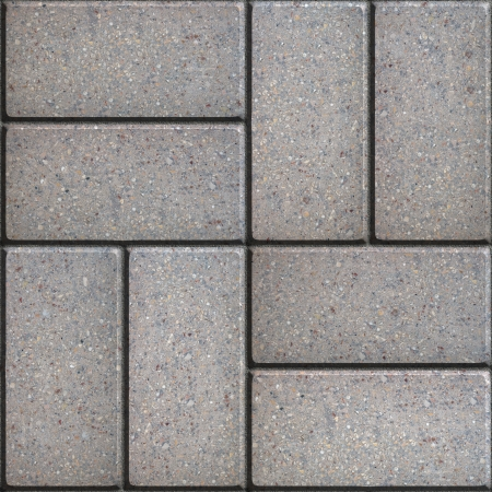 perpendicular: Gray Pavement of Rectangles Laid Out Perpendicular in Pairs. Seamless Tileable Texture. Stock Photo