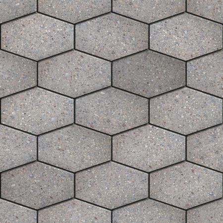 materiales de construccion: Pavimento gris de hexágonos como Honeycomb. Textura inconsútil de Tileable.