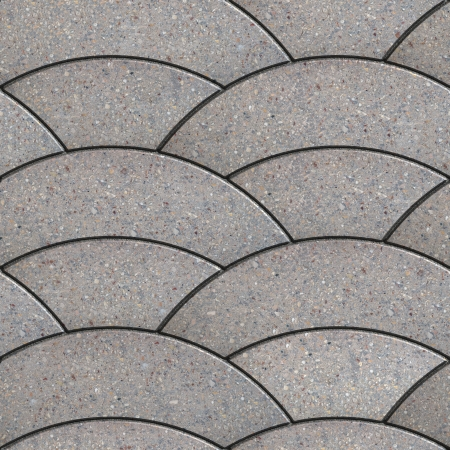 Grau Wavy Arcuate Dachte Gehwegplatten. Seamless Texture Tileable.