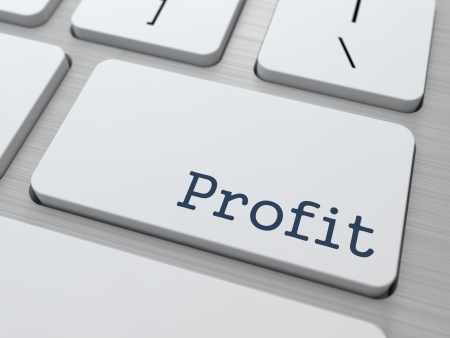Profit on White Modern Keyboard Button. Business Concept. Фото со стока
