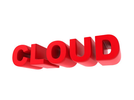 Cloud - Red Text Isolated on White. IT Concept. photo