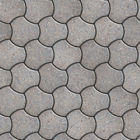 trefoil: Gray Pavement in the Trefoil Form. Seamless Tileable Texture.