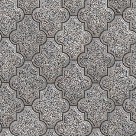 granular: Gray Granular Decorative Pavement. Seamless Tileable Texture. Stock Photo