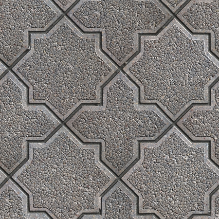 Gray Granular Figured Pavement. Seamless Tileable Texture. photo