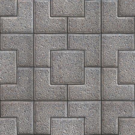 granular: Gray Granular Pavement of Squares. Seamless Tileable Texture.