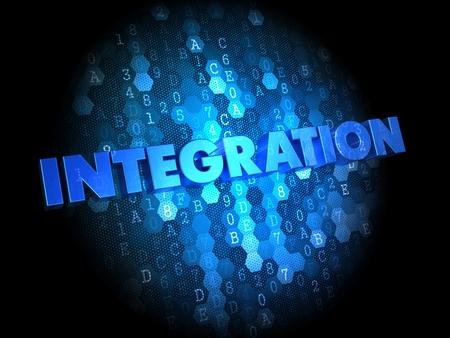 incorporation: Integration - Blue Color Text on Dark Digital Background.