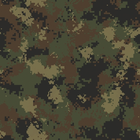 Summer Digital Camouflage. Seamless Tileable Texture. photo