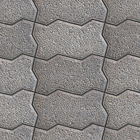 Gray Grainy Wavy Paving Slabs. Seamless Tileable Texture. photo