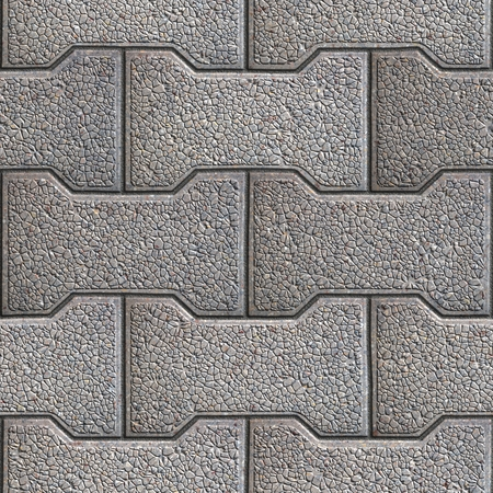 Gray Figured Paving Slabs. Seamless Tileable Texture. Stock Photo - 26339724