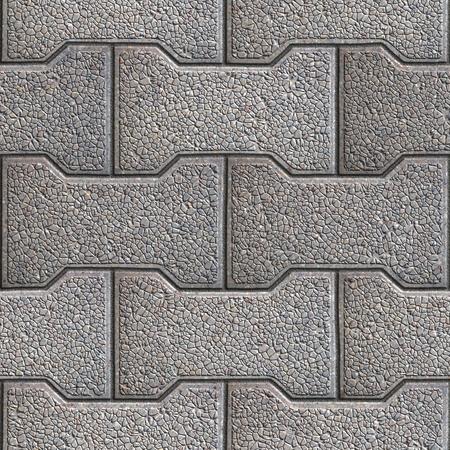 figured: Gray Figured Paving Slabs. Seamless Tileable Texture. Stock Photo