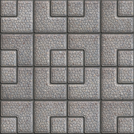 Grainy Gray Pavement of Squares of Different Sizes. Seamless Tileable Texture. photo
