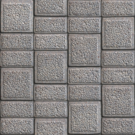 Grainy Pavement - Rectangular and Square. Seamless Tileable Texture.